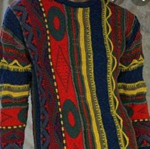 Koto Womens Sweater Coogi Style Multi Size SP